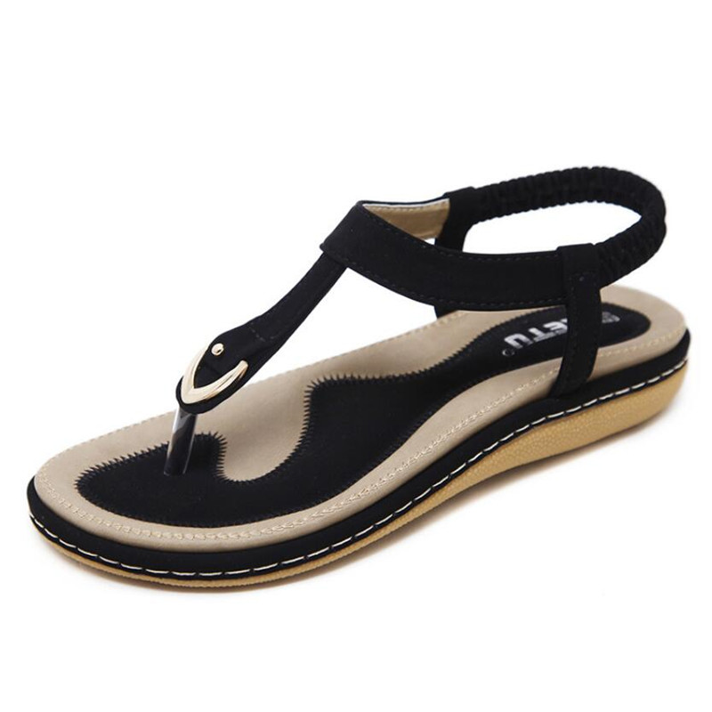 Summer Shoes Women Bohemia Ethnic Flip Flops Soft Flat Sandals Woman Casual Comfortable Plus Size Wedge Summer Shoes Women Bohemia Ethnic Flip Flops Soft Flat Sandals Woman Casual Comfortable Plus Size Wedge Sandals 35-45