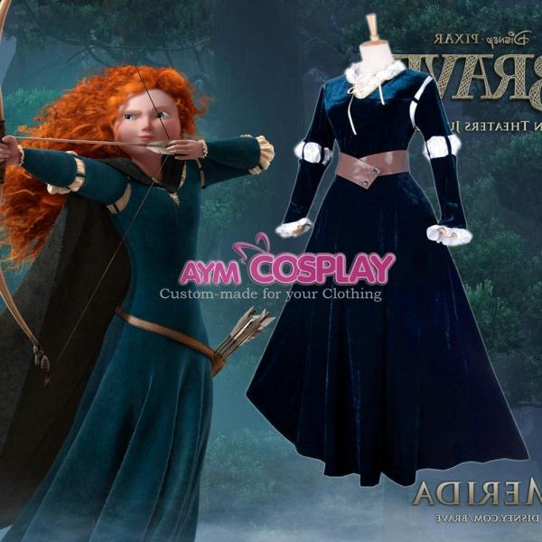 New Arrival High Quality Brave Film Merida Dress Cosplay Princess Merida Costume