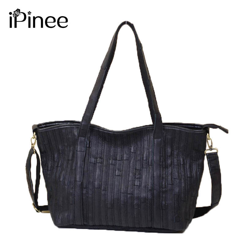 iPinee New 2018 Fashion Brand Genuine leather Women Handbag Europe and America Cow Leather Shoulder Bag Casual Women Bag new 2017 fashion brand genuine leather women handbag europe and america oil wax leather shoulder bag casual women bag