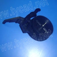 C6072-60151 Clutch assembly for the HP Designjet 1050C 1055CM plotter parts c2847 60044 hp designjet 600 650c 1633 power switch assembly used plotter parts