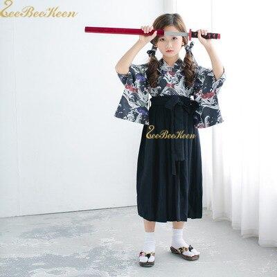 Anime Cosplay kimono Child jiu jitsu Game Cosplay Costume For Women Boys Japanese Samurai suit Skirt Girls Skirt Japanese Kimono