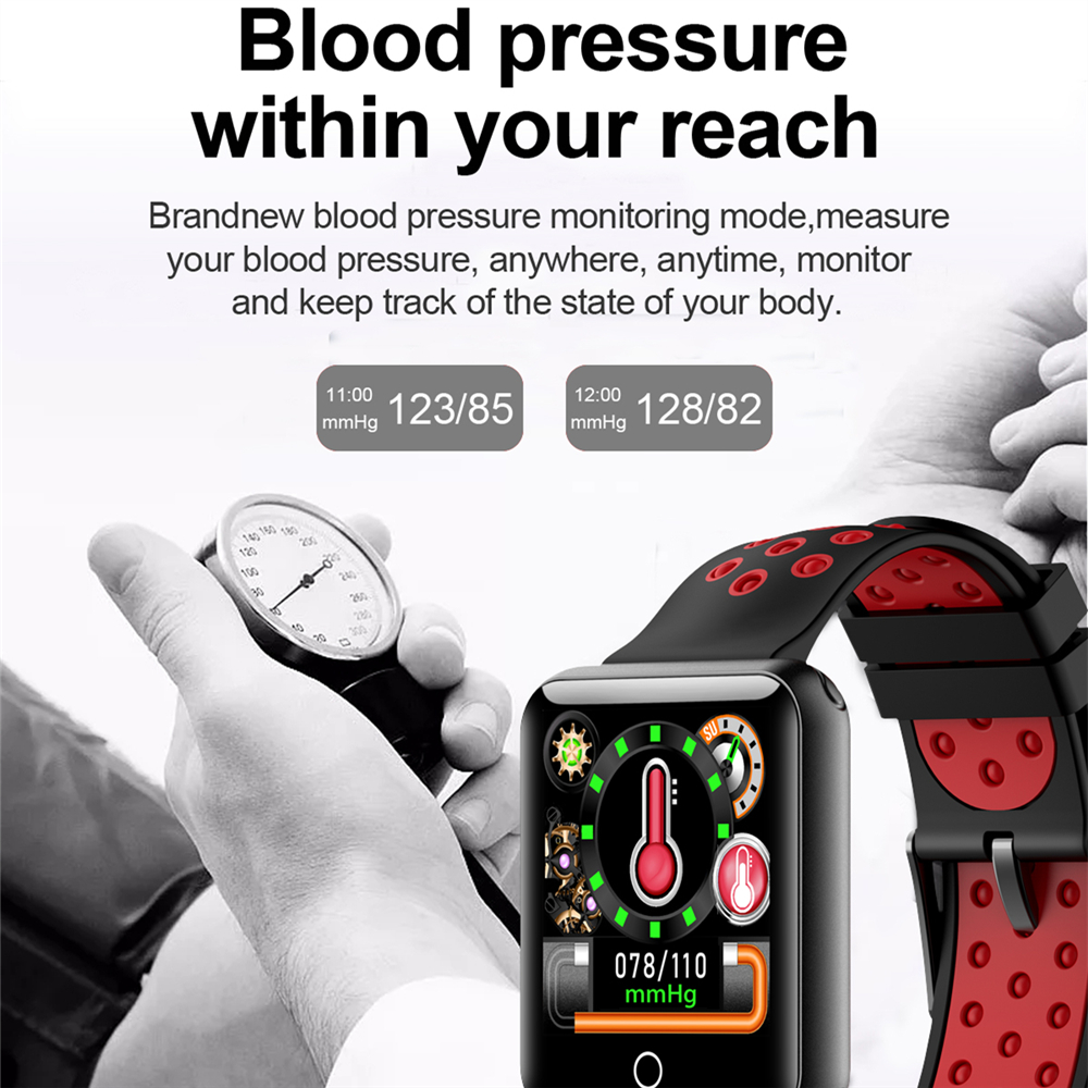 OGEDA Q19 Bluetooth Sport Smart Square Watch Bracelet Health Monitoring LED Display Photography Time Four Clock Color Options ogeda sport health smart watch bracelet call information 0 96 inch led color screen heart rate sleep monitoring better than y5