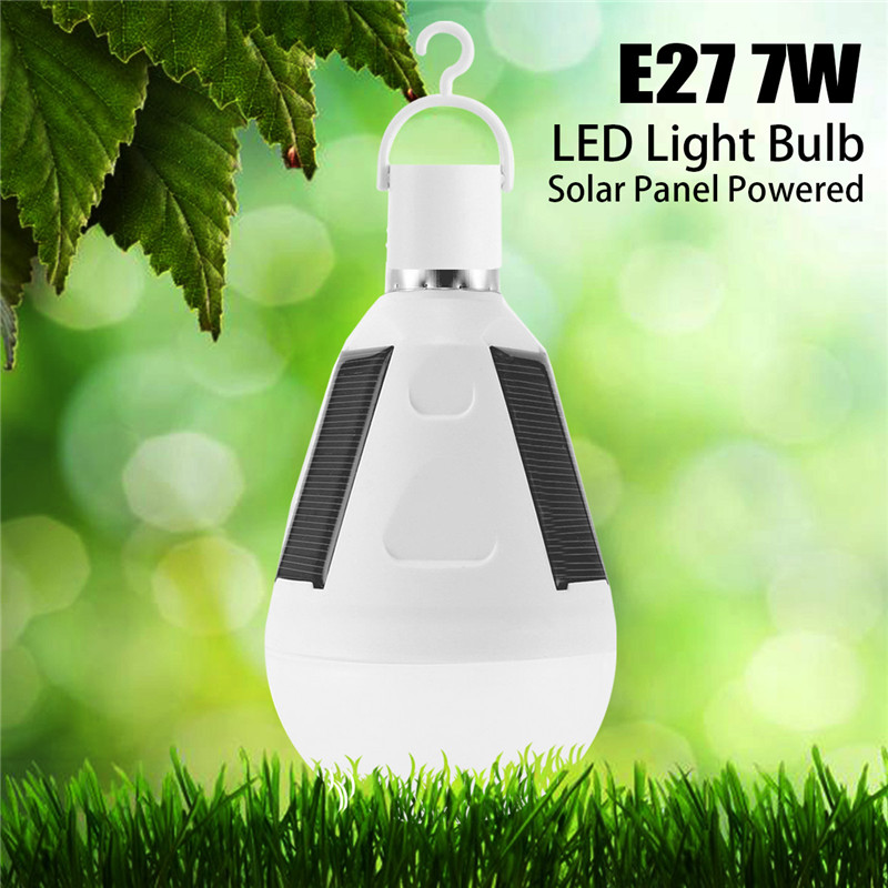 Mising Solar Lights LED Bulb E27 Hanging Led Solar Lamp 7W 9W Rechargeable for Outdoor Hiking Camping Tent Fishing Lighting