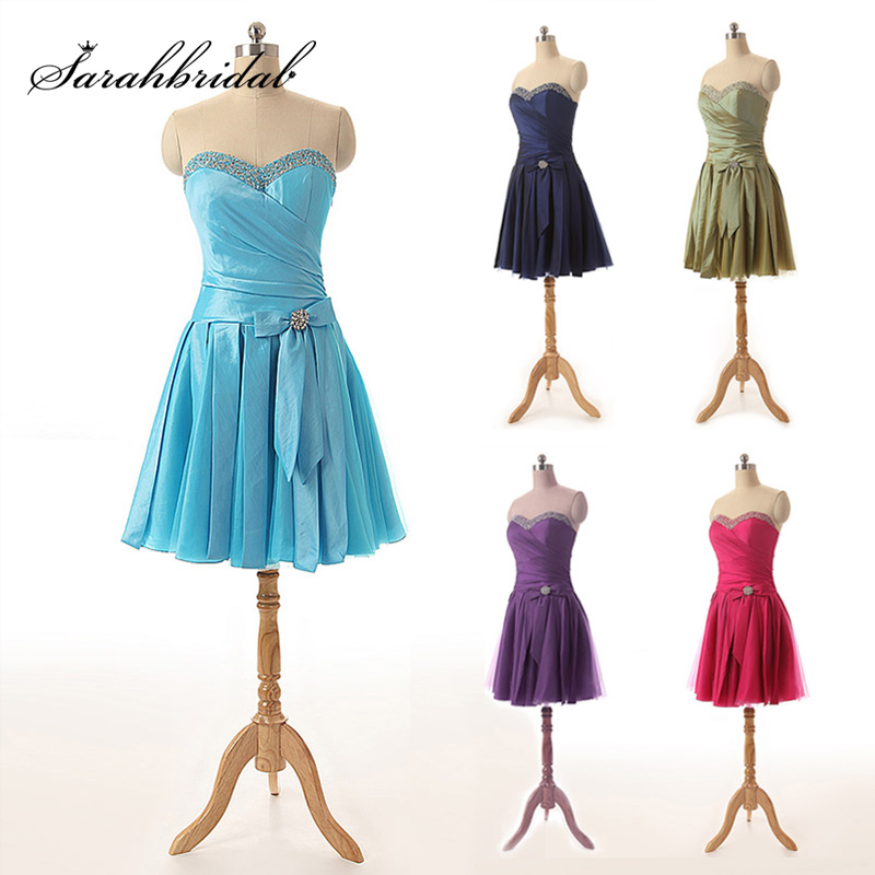 Cheap Taffeta Graduation Dresses For Girls Lace Up Hot Sale Sexy Sweetheart Party Dresses With Bow