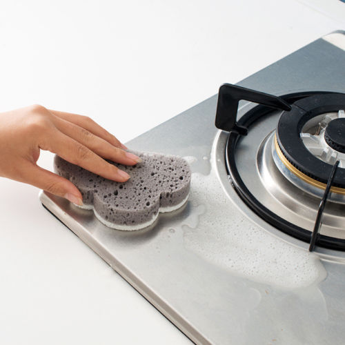 Hot Kitchen Emery Magic Clean Rub Pot Rust Focal Stains Sponge Removing Tool