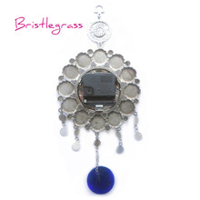 BRISTLEGRASS Turkish Nazar Blue Evil Eye Quartz Wall Clock Hanging Pendants Amulets Lucky Charms Blessing Protections Home Decor
