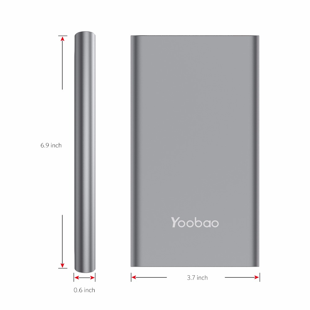 Yoobao A2 Power Bank 20000mAh Dual USB Output Input Ultra Slim External Battery with Digital Display Mobile Portable Charger in Power Bank from Cellphones Telecommunications