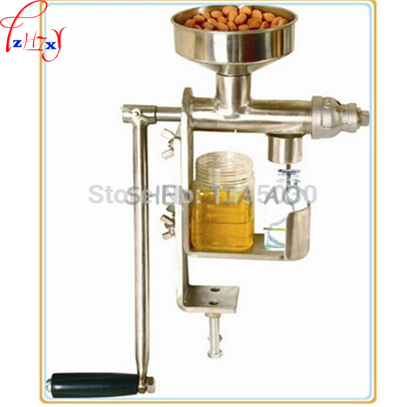 1pc Manual Oil Press Peanut Nuts Seeds Oil Press/ 304 Stainless Steel Expeller Oil Extractor Machine sales promotion of createbot single extruder mid 3d printer with touchscreen and heatbed black 3d printer high accuracy