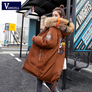 Image 2 - Fashion Casual Vrouwen Kleding 2020 Winter Hooded Rits Brede Taille Vrouwelijke Jassen Dikke Met Warme Jas Vrouwen Lange parka
