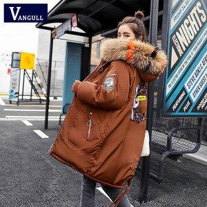 Image 2 - Vêtements à capuche pour femmes, manteaux féminins épais, taille large, avec veste chaude, fermeture éclair, parka longue, collection dhiver, collection décontracté