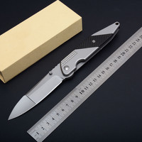 NEW F33 folding knif steel+carbon fiber handle outdoor camping hunting Pocket knife survival tactical fruit knives EDC hand tool