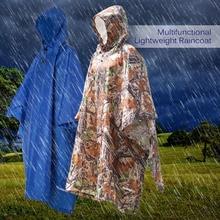 Многофункциональный водонепроницаемый дождевик с капюшоном для пешего туризма, езды на велосипеде, дождевик, военный дождевик, походный коврик для палатки