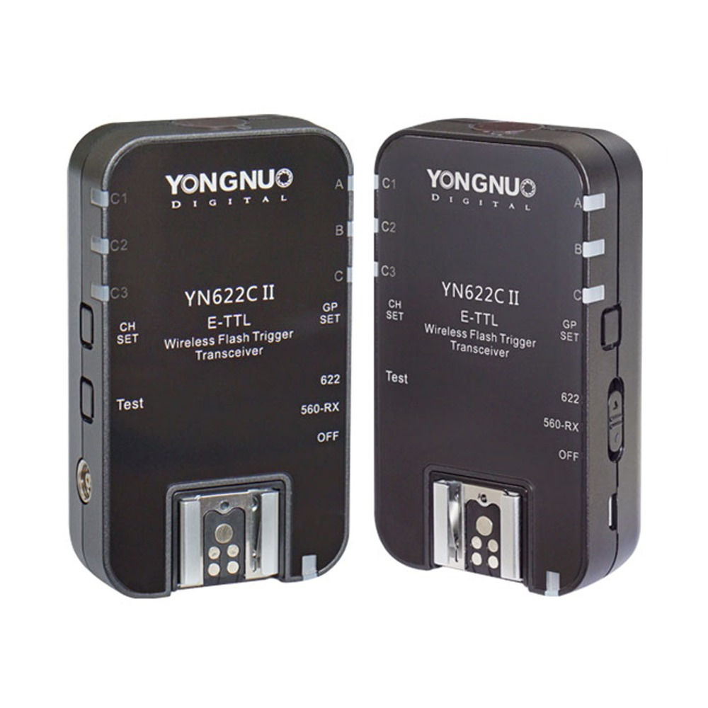 Yongnuo YN-622C II Wireless ETTL HSS Flash Trigger for Canon 70D 60D 50D 30D 20D yongnuo 3x yn 600ex rt ii 2 4g wireless hss 1 8000s master flash speedlite yn e3 rt flash trigger for canon eos camera 5d 6d
