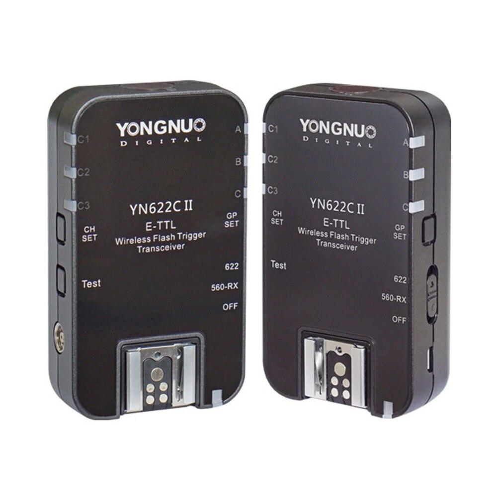 Yongnuo YN-622CII for Canon YN622N II for Nikon Wireless Speedlite Flash Trigger ETTL i-TTL HSS Work with YN-560TX RF605 yongnuo yn 560 iv yn560 wireless ttl hss master radio flash speedlite 2pcs rf 605c rf605 lcd wireless trigger for canon camera