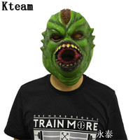 2018 New Halloween Dinosaur Mask Zombie Mask Latex Bloody Scary Extremely Disgusting Full Face Mask Costume Party Cosplay Prop