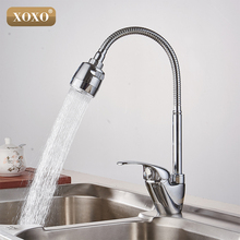 XOXO Messing mengkraan koud en warm water keuken kraan sink tap Multifunctionele douche wasmachine 2262