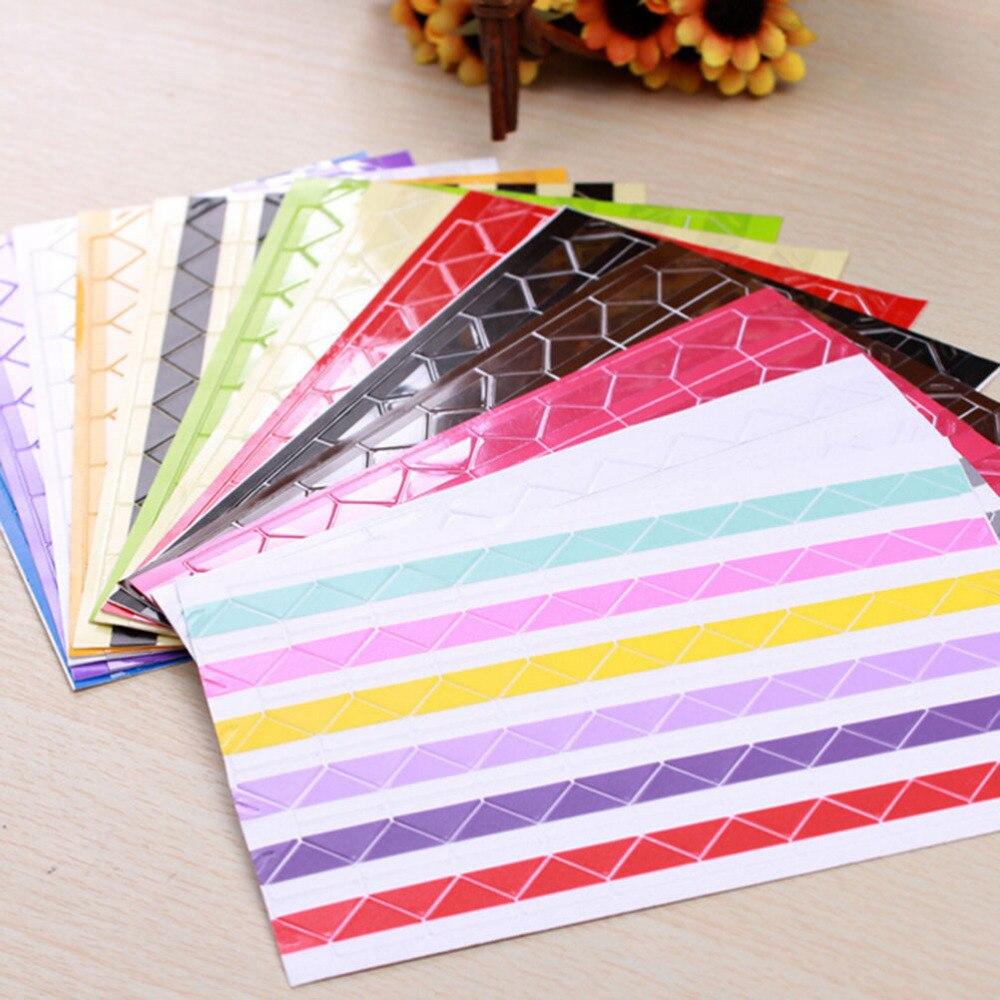 Набор из 408 разноцветных бумажных наклеек на углы для фотографий, фотоальбомов, рамки для домашнего декора, скрапбукинга