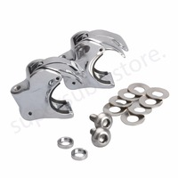1 Pair 39mm Motorcycle Windscreen Clamps Front Windshield Bracket Mounting Case For Harley Dyna Sportster Custom