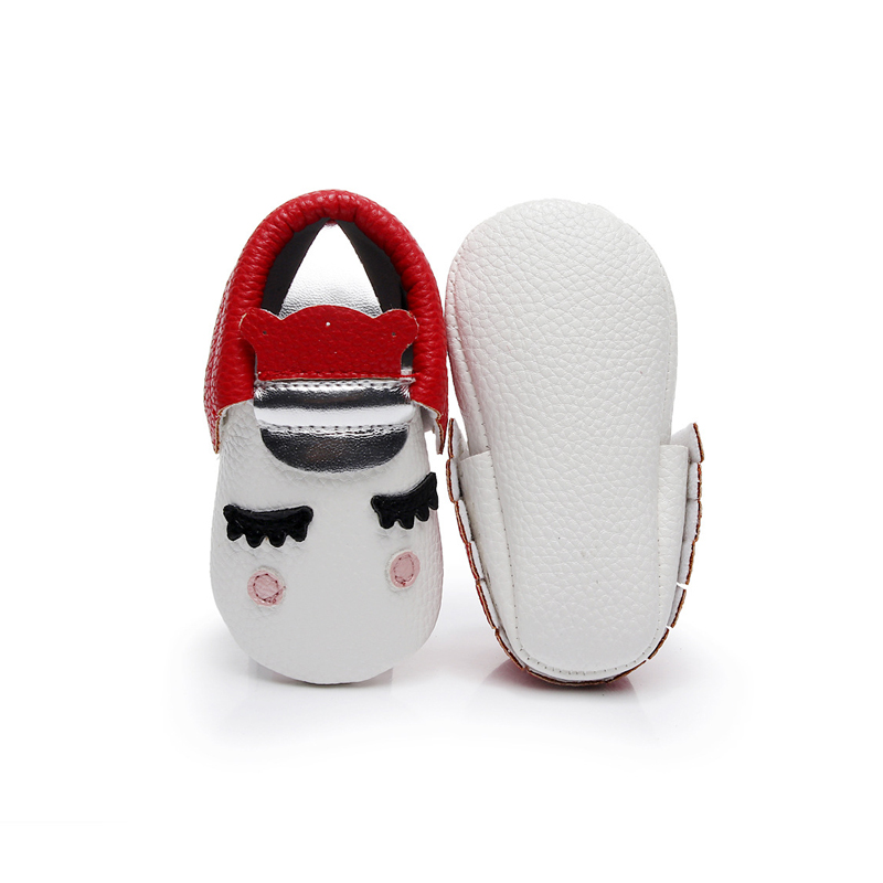 Pudcoco Lovely Kids Baby Girl Boy Unisex Soft PU Anti-Slippery Sole Shoes Size 11-13 Helen115