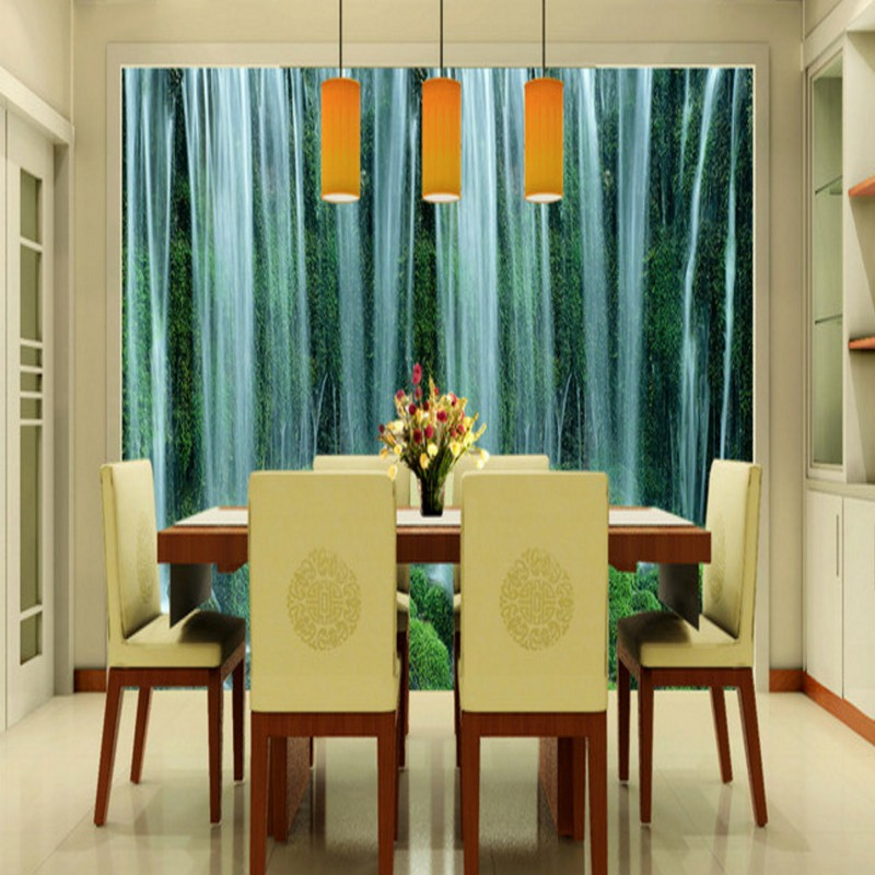 small kitchen dining room ideas office lobby. Custom 3d Mural Wallpaper Waterfall Landscape Background Living Room Lobby Office 3D Stereo Bedroom Bathroom Wallpaper-in Wallpapers From Home Small Kitchen Dining Ideas