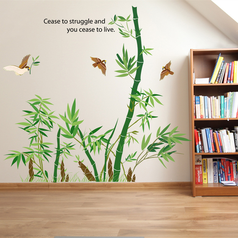 Bamboo Wall Sticker Vinyl Wall Stickers For Kids Rooms Home Decor Bathroom Sofa Wall Decals Adesivo
