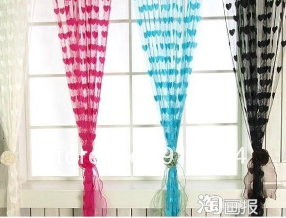 producto terminado cortinas bonitas desgaste del tubo del corazn cortina de la secuencia tamao m hermosa