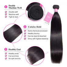 Malaysian Straight Hair Bundles With Closure  Frontal Remy