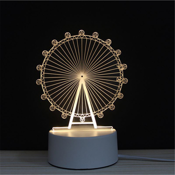 Ferris Wheel Fairy Tales LED 3D NightLight Acrylic Night Lamp Light Luminary With Touch And Remote Lamps Lights Kids Decoration