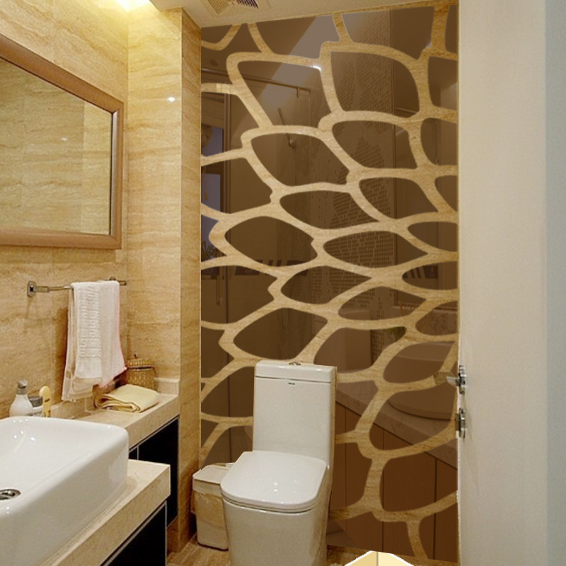 Heißer verkauf kristall form zusammenfassung 3d spiegel wandaufkleber schlafzimmer wohnzimmer sofa wandtattoo innen friseursalon decor R238 - 4
