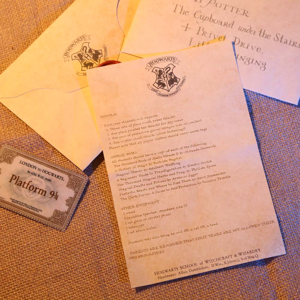 Fast Shipping Harry Potters Hogwarts Acceptance Letter Package Five