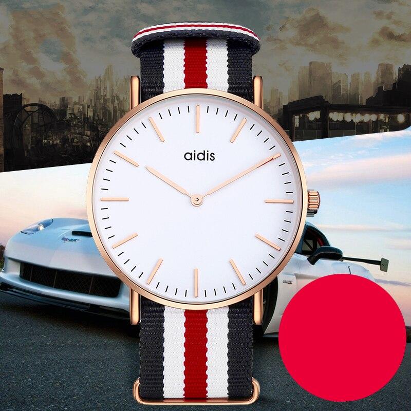 Addies couple montres pour amoureux simple décontracté couple quartz montre-bracelet amant cadeau à petit ami petite amie décontracté