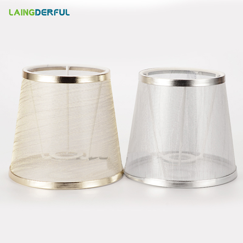 LAINGDERFUL Art Deco Lampshades Cloth Art Lampshell Light Shade Lamp Cover Gauze Lampshade For E14 Pendant Light Inwall Lamp