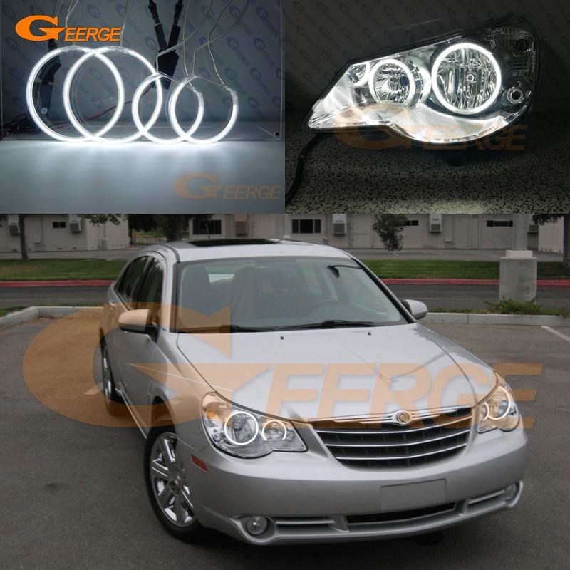 все цены на For Chrysler Sebring 2007 2008 2009 2010 headlight Excellent Ultra bright illumination CCFL angel eyes kit Halo Ring онлайн