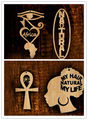 Free Shipping! Newest africa ankh wood earrings