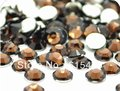 6mm Coffee Color SS30 crystal Resin rhinestones flatback,Free Shipping 10,000pcs/bag