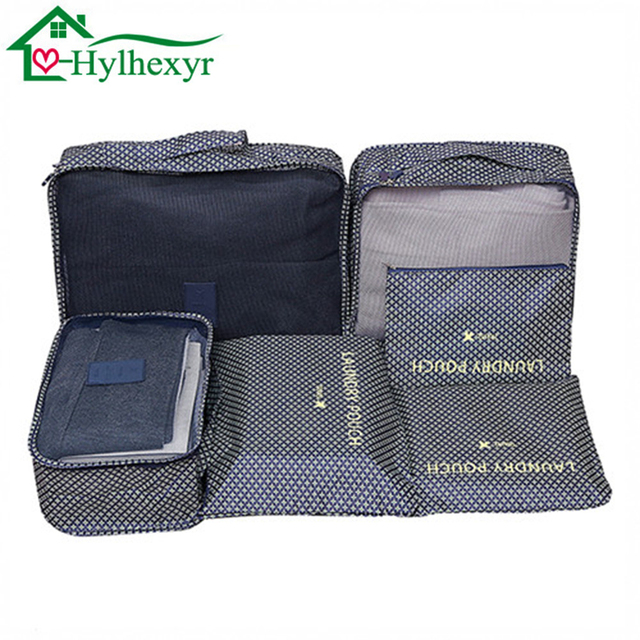 6 Travel Storage Bags Set Shoes Clothing Organizer Luggage Bag Personal Hygiene Kits Accessories Supplies
