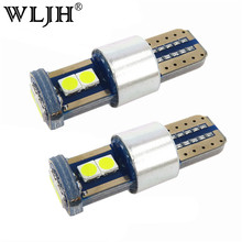WLJH 2x CANBUS No Error White Ice Blue T10 W5W Led 3030 Chip Light Bulb For Car Parking Position License Interior Dome Lights(China)