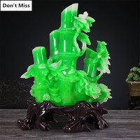 Creative Gift Lucky Bamboo Figurines Home Decoration Accessories Company Office Decor Feng Shui Mascot Ornament Bamboo Sculpture