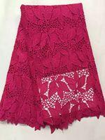 Fushia pink guipure dress lace fabric