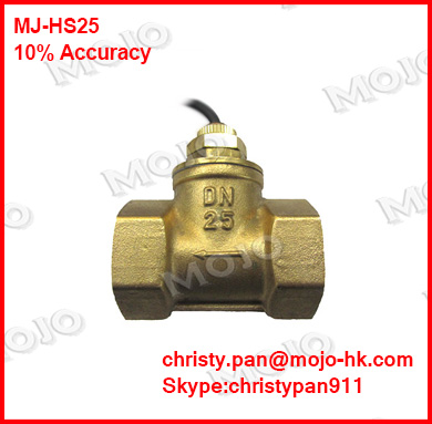 free shipping ! MJ-HS25 DN25 G1'' Piston-type flow switch Brass material 68*39*75 flow switch free shipping paddle type mj db32 flow switch with 1 25 inch