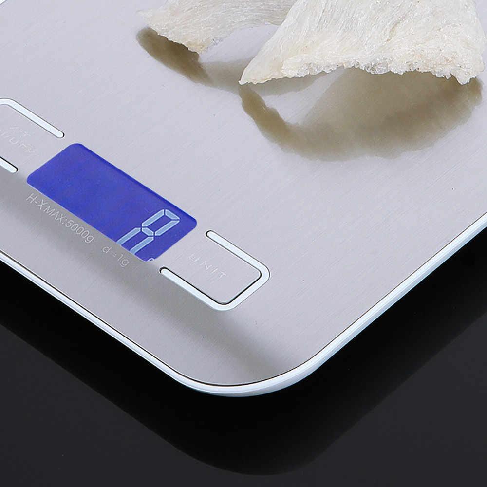 5000 グラム/1 グラムタッチスクリーンのデジタルキッチンスケールビッグ食品ダイエット重量バランススリムマルチステンレス鋼電子スケール