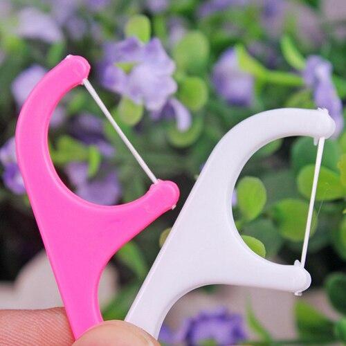 25pcs Oral Dental Flosser Plastic Disposable Gum font b Teeth b font Clean font b Care
