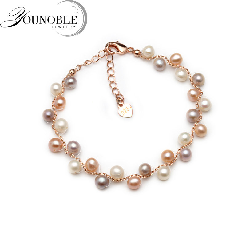 Real freshwater pearl bracelet for women,fashion gift multilayer children bracelet femmeReal freshwater pearl bracelet for women,fashion gift multilayer children bracelet femme