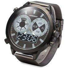 SHIWEIBAO A1052 Masculino Reloj de Cuarzo con Dial Redondo Reloj de Acero band