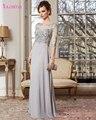 Najowpjg 2017 Chegam Novas Elegante O Pescoço A Linha Mãe dos Vestidos de Noiva Requintado Frisado Vestido de Paetês Vestido de Festa Hot Sale