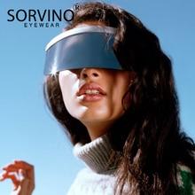 SORVINO Oversized Visor Shield Sunglasses Women Men Brand De