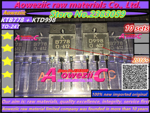 Image 1 - Aoweziic 100% nieuwe geïmporteerde originele KTB778 KTD998 TO 3PF audio eindversterker B778 D998 power transistor 2SB778 2SD998