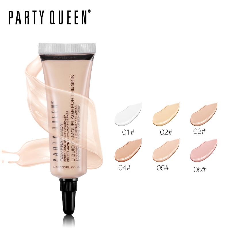 Party Queen Makeup Face Primer Perfect Cover Camouflage Liquid Concealer Cream Invisible Pores ...