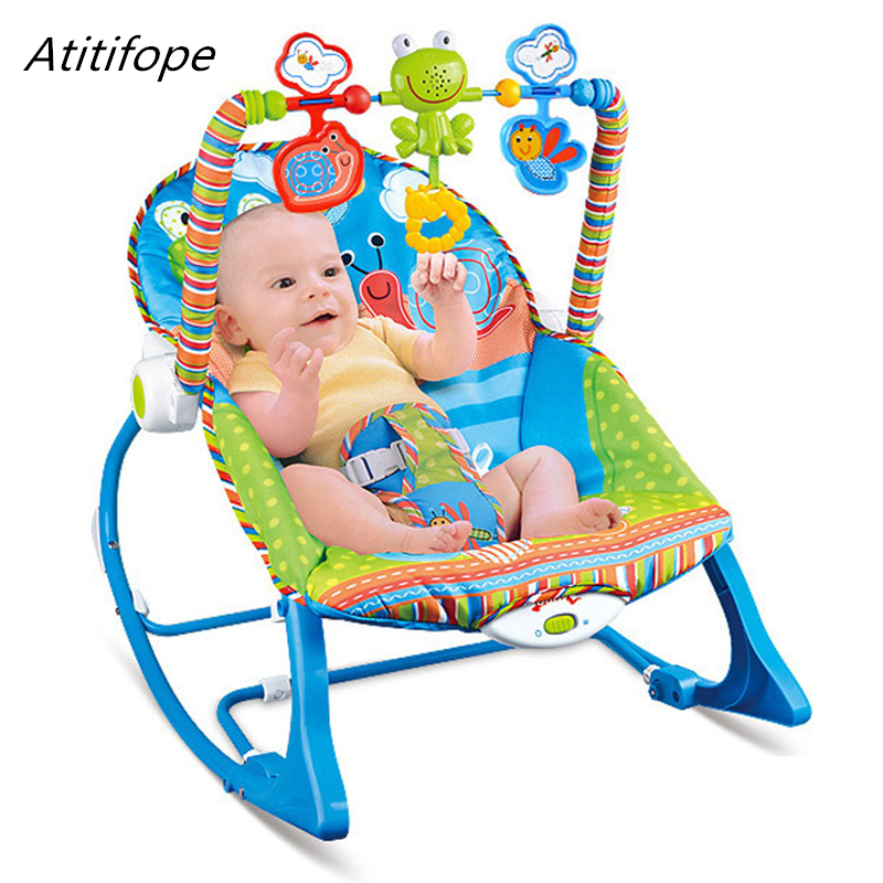 9b7510b01fd2 Baby rocking chair multi function baby bed with music and swings ...