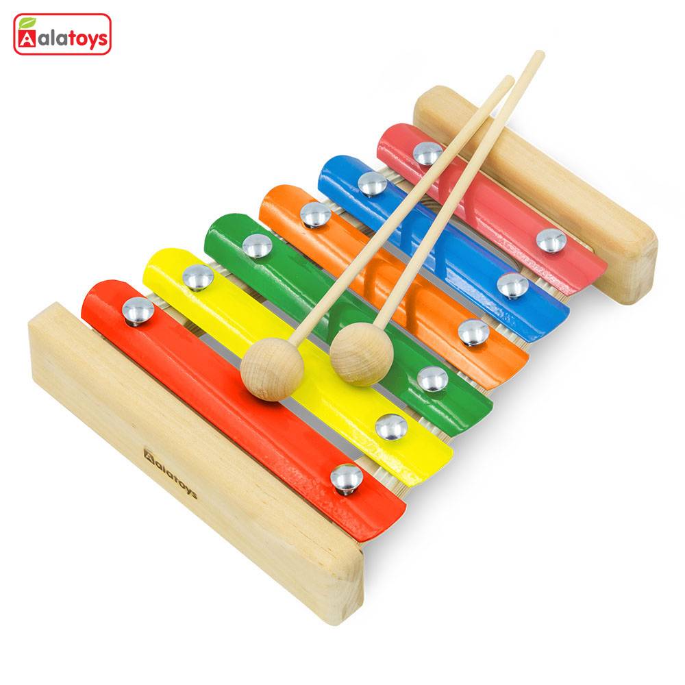 Toy Musical Instrument Alatoys MF0601 play glockenspiel xylophone music toys for boys girls toywood Glockenspiel liang li advanced coating materials